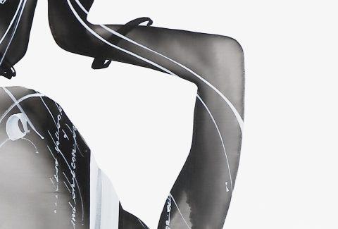 NOURAH 2 | Acrylic on canvas, 91 x 117cm, 2020, Model : Nourah