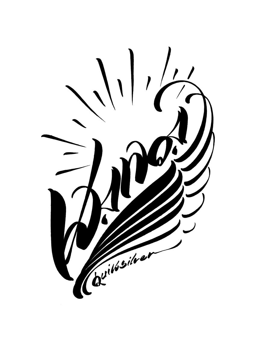 Usugrow logos calligraphy Calligraphy logo